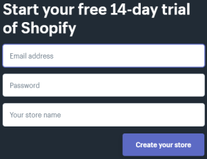 Shopify 14 days trial